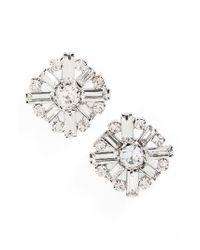 Cara | Metallic Crystal Cluster Earrings | Lyst