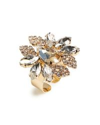 Cara | Metallic Cluster Cocktail Ring | Lyst