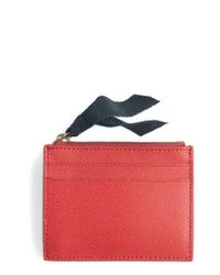 J.Crew - Blue Small Leather Zip Wallet - Lyst