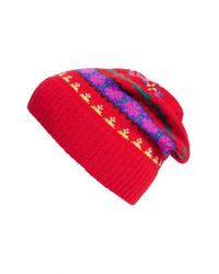 J.Crew - Red Holly Fair Isle Wool Hat - Lyst