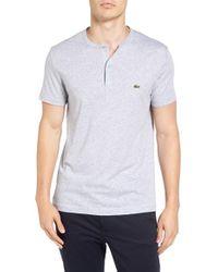 Lacoste   Gray Henley T-shirt for Men   Lyst