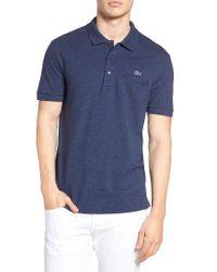 Lacoste | White Regular Fit Pocket Pique Polo for Men | Lyst