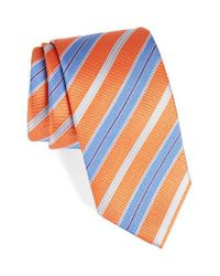David Donahue | Blue Stripe Silk Tie for Men | Lyst