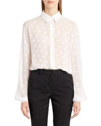 Dolce & Gabbana | White Dot Fil Coupe Blouse | Lyst