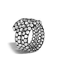 John Hardy | Metallic Dot Double Coil Ring | Lyst