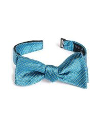 Ted Baker | Blue Plaid Silk Bow Tie for Men | Lyst