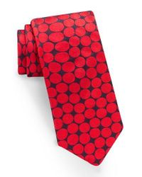 Ted Baker | Red Dot Silk Tie for Men | Lyst