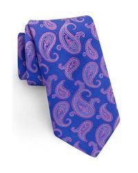 Ted Baker | Blue Paisley Silk Tie for Men | Lyst