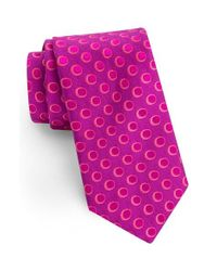 Ted Baker | Pink Party Dots Silk Tie for Men | Lyst