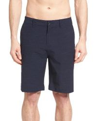 Quiksilver | Blue Slub Amphibian Hybrid Shorts for Men | Lyst