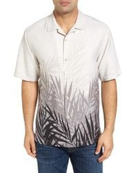 Tommy Bahama | White Fronds In The Mist Original Fit Silk Camp Shirt for Men | Lyst