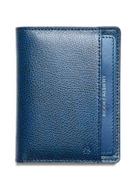 Hook + Albert - Blue Leather Bifold Wallet for Men - Lyst