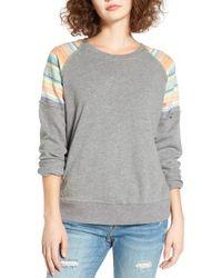 Rip Curl | Gray Sun Stripe Sweatshirt | Lyst
