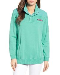Vineyard Vines | Blue Shep Seersucker Yoke Pullover | Lyst