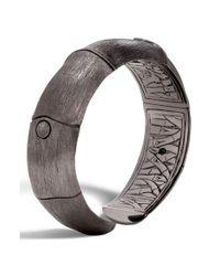 John Hardy | Metallic Bamboo Hinge Cuff | Lyst