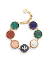 Tory Burch | Blue Semiprecious Stone Bracelet | Lyst