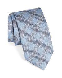 Brioni | Blue Grid Silk Tie for Men | Lyst