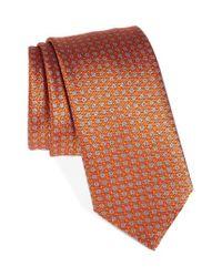 Brioni   Orange Geometric Silk Tie for Men   Lyst