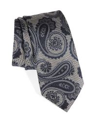 Brioni | Gray Paisley Silk Tie for Men | Lyst