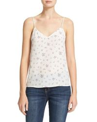 Equipment | White Layla Floral Silk Camisole | Lyst