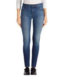 J Brand | Blue 620 Mid Rise Super Skinny Jeans | Lyst