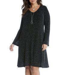 Karen Kane | Black Taylor Diamond Dust A-line Dress | Lyst