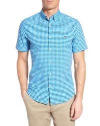 Vineyard Vines | Blue Fort George Tucker Slim Fit Gingham Sport Shirt for Men | Lyst