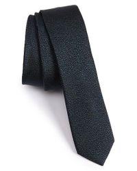 The Kooples | Black Dot Silk Jacquard Skinny Tie for Men | Lyst