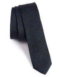 The Kooples | Black Marble Jacquard Silk Skinny Tie for Men | Lyst