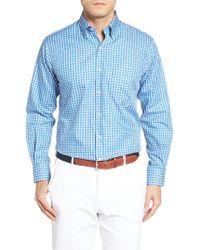 Peter Millar | Blue Harbour Island Regular Fit Tattersall Plaid Sport Shirt for Men | Lyst