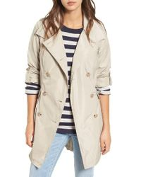 French Connection | Natural Drape Back Trench Coat | Lyst