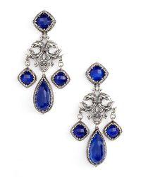 Konstantino | Blue Andromeda Lapis Chandelier Earrings | Lyst