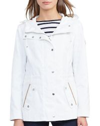 Lauren by Ralph Lauren - White Hooded Drawcord Jacket - Lyst