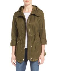 Guess | Green City Roll Sleeve Anorak | Lyst