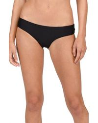 Volcom | Black Simply Solid Cheeky Bikini Bottoms | Lyst