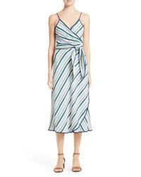 Tory Burch | Blue Villa Wrap Dress | Lyst