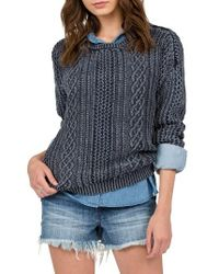 Volcom | Blue Mess Round Crewneck Sweater | Lyst
