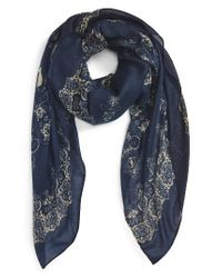 The Kooples | Blue Print Scarf | Lyst
