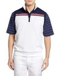 Bobby Jones | Blue Xh2o Stretch Quarter Zip Golf Vest for Men | Lyst