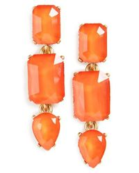 Loren Hope | Orange Terra Jeweled Drop Earrings | Lyst
