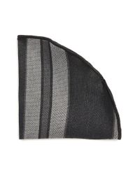 Alexander Olch | Gray Stripe Linen Pocket Round for Men | Lyst
