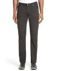 Armani Jeans | Black Stretch Cotton Gabardine Jeans for Men | Lyst