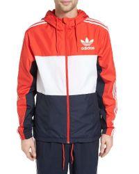Adidas Originals | Blue California Hooded Windbreaker for Men | Lyst