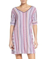 DKNY - Multicolor Stretch Modal Sleep Shirt - Lyst