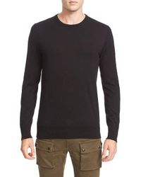 Belstaff | Black Kilsby Crewneck Sweater for Men | Lyst