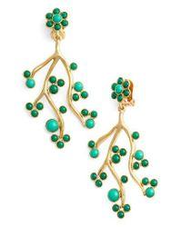 Oscar de la Renta | Green Vine Clip Earrings | Lyst