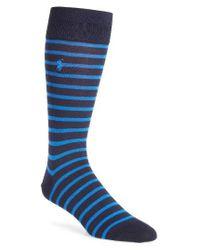 Polo Ralph Lauren | Blue St. James Stripe Socks for Men | Lyst