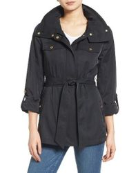 Ellen Tracy | Black Zip Utility Trench Coat | Lyst