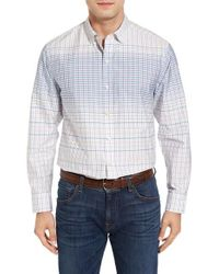 Tommy Bahama | Blue Ponte Vedra Ombre Check Cotton & Silk Sport Shirt for Men | Lyst