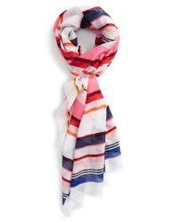 Kate Spade | Pink Berber Stripe Scarf | Lyst